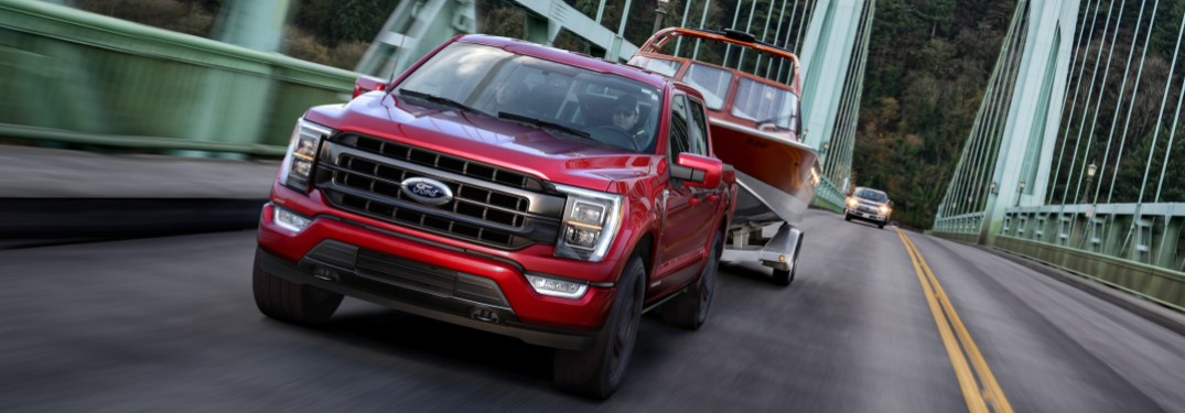 2021 Ford F-150 Hybrid on bridge