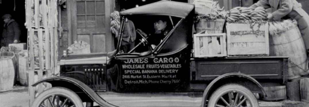1925 Ford Model T Runabout truck on street