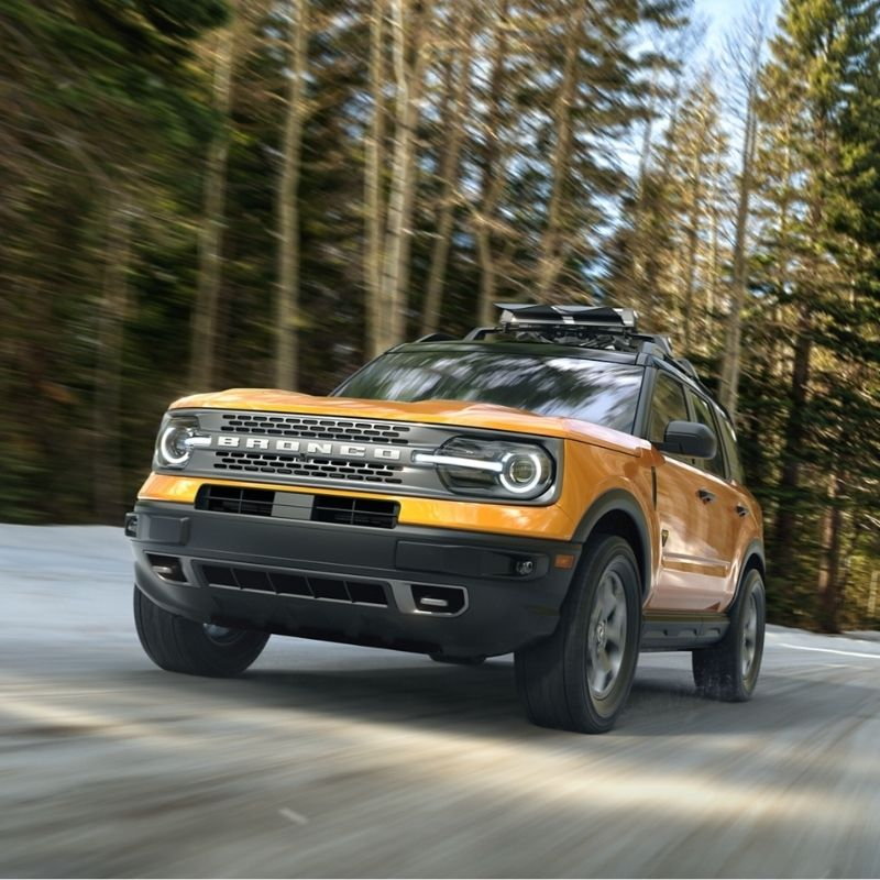 2021 Ford Bronco Sport driving on forest road