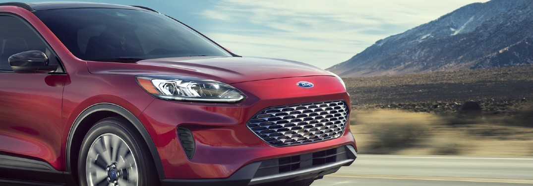 2020 Ford Escape Plug-In Hybrid SUV on rural road