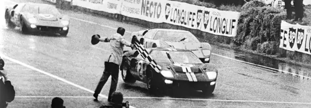 Ford GT40 Winning 1966 Le Mans
