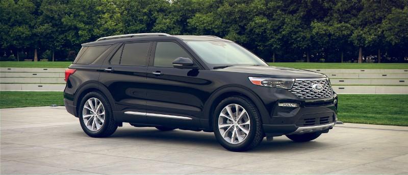2021 Ford Explorer in Agate Black exterior color