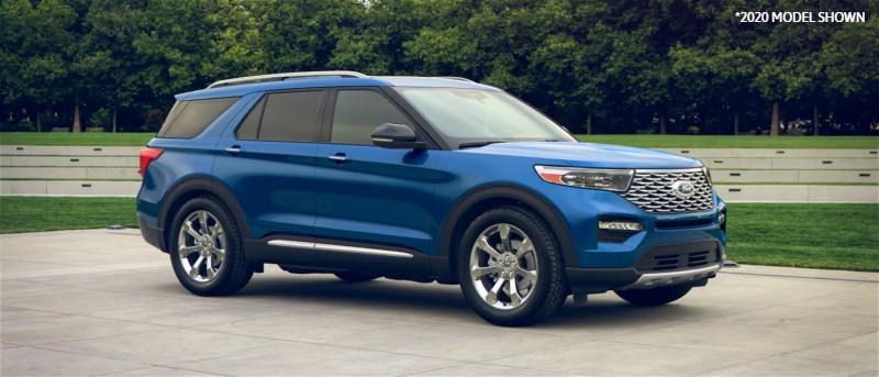 2021 Ford Explorer in Atlas Blue exterior color (2020 MODEL SHOWN)