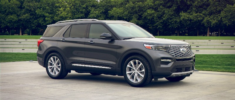 2021 Ford Explorer in Carbonized Gray exterior color
