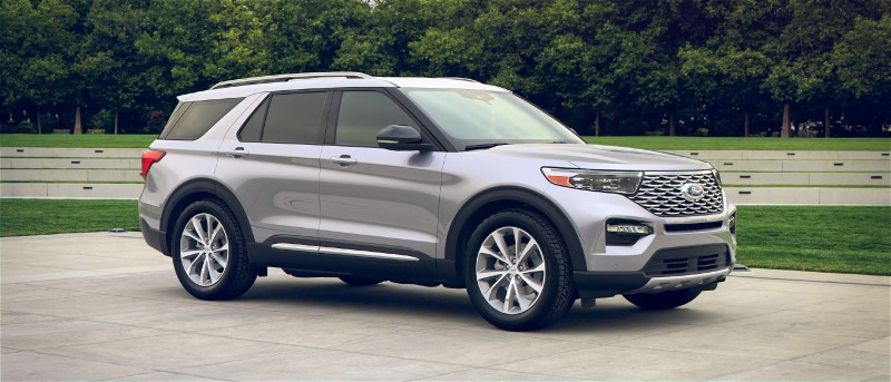 2021 Ford Explorer in Iconic Silver exterior color