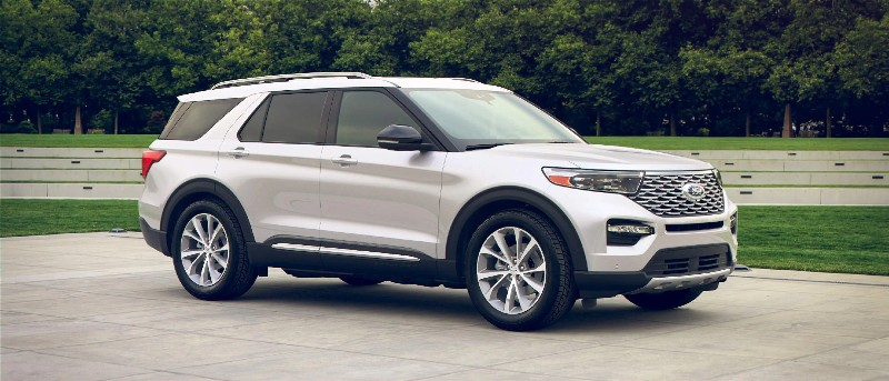 2021 Ford Explorer in Star White Metallic exterior color