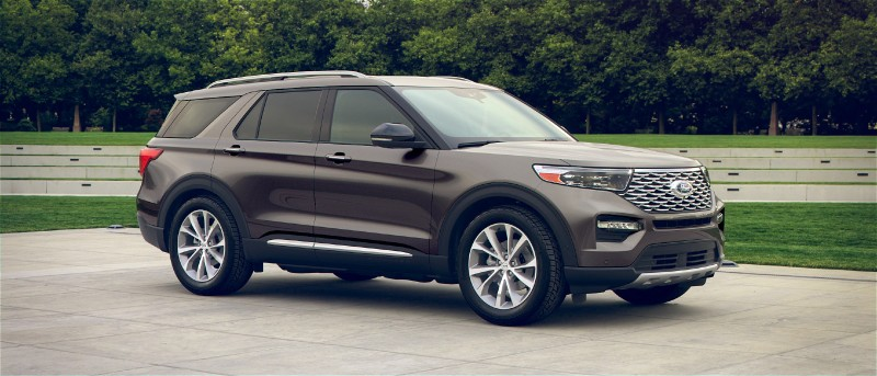 2021 Ford Explorer in Stone Gray exterior color