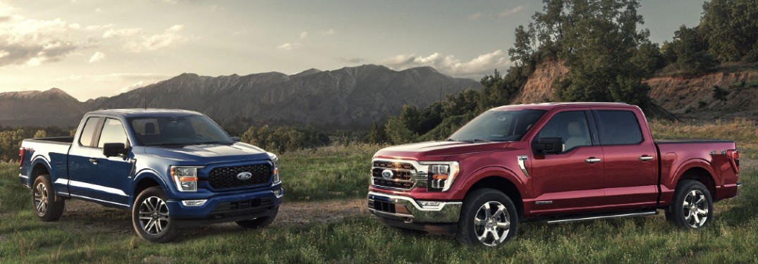 2021 Ford F-150 in field