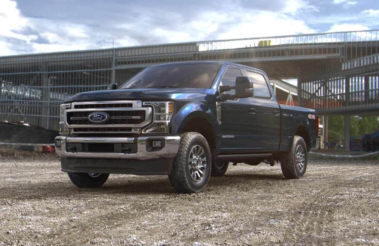 2021 Ford Super Duty in new Antimatter Blue color