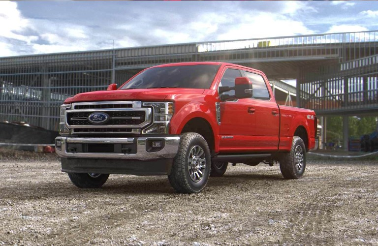 2021 Ford Super Duty in Race Red