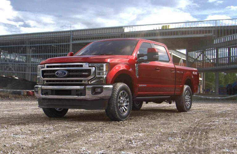 2021 Ford Super Duty in Rapid Red Metallic