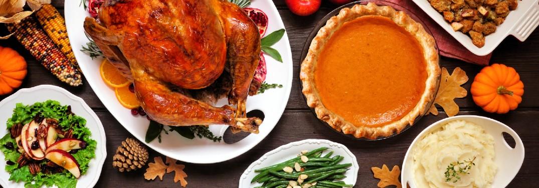 Thanksgiving turkey dinner spread in Atlanta, GA