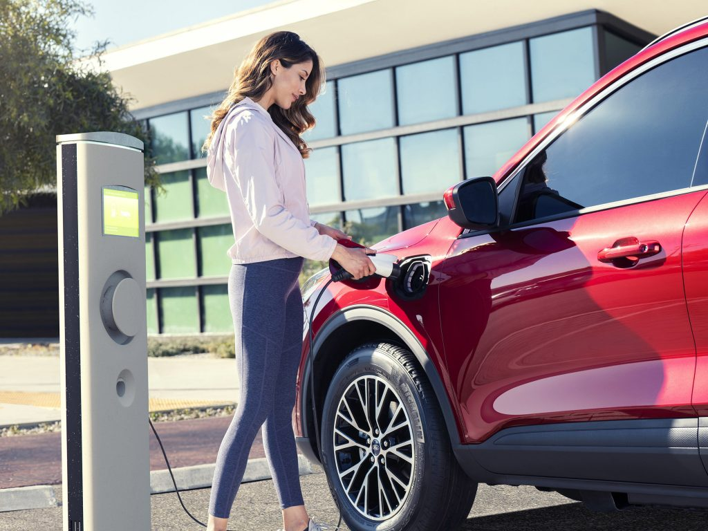 2020 Ford Escape Plug-In Hybrid charging station