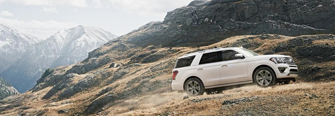 2021 Ford Expedition on mountain trail