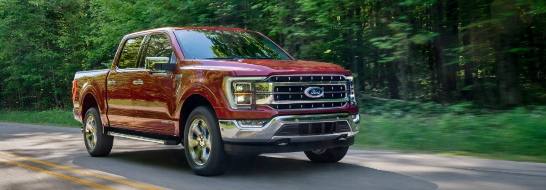2021 Ford F-150 on rural road