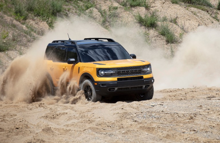 2021 Ford Bronco Sport driving through sand