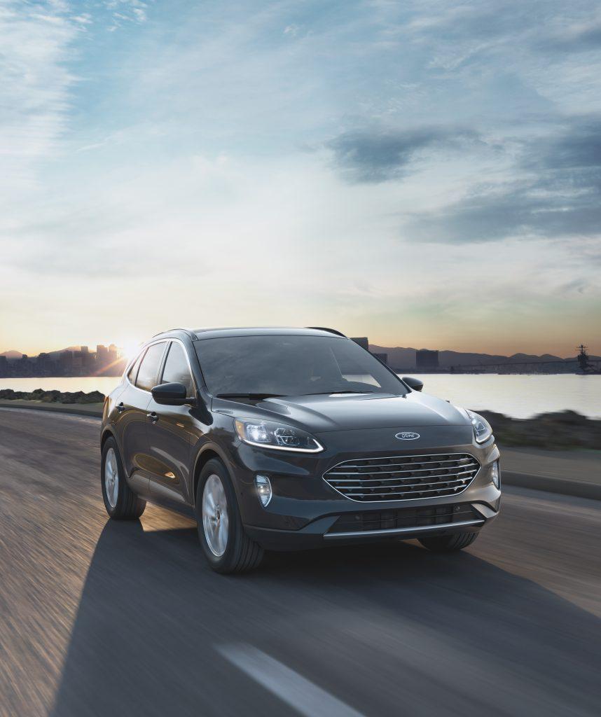 2021 Ford Escape Titainium Elite Package on Coastal Road