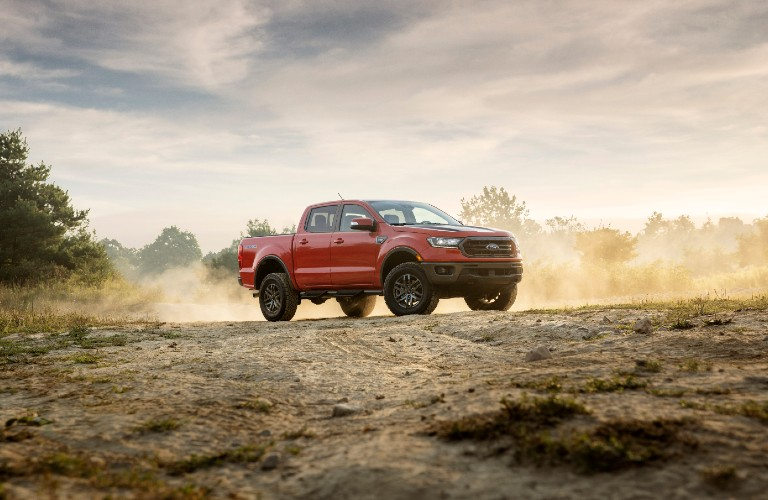 2021 Ford Ranger on off-road terrain