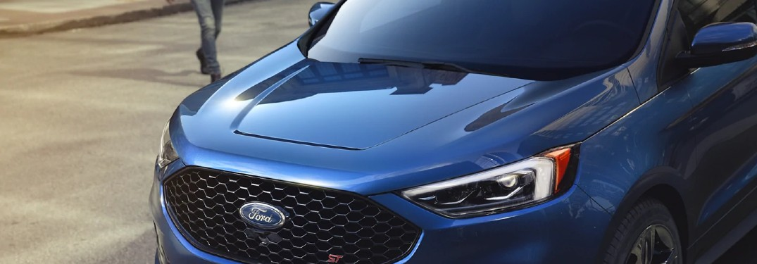 2021 Ford Edge in Atlas Blue exterior color