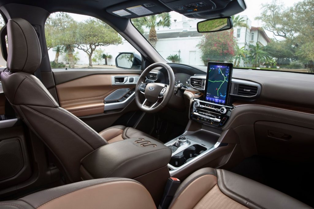 2021 Ford Explorer King Ranch dashboard and steering wheel