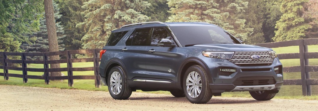 2021 Ford Explorer on gravel country road