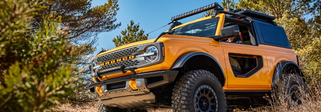 2021 Ford Bronco in forested area