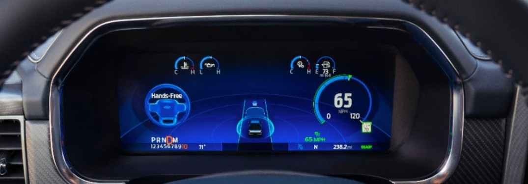 Ford BlueCruise Instrument Cluster Display