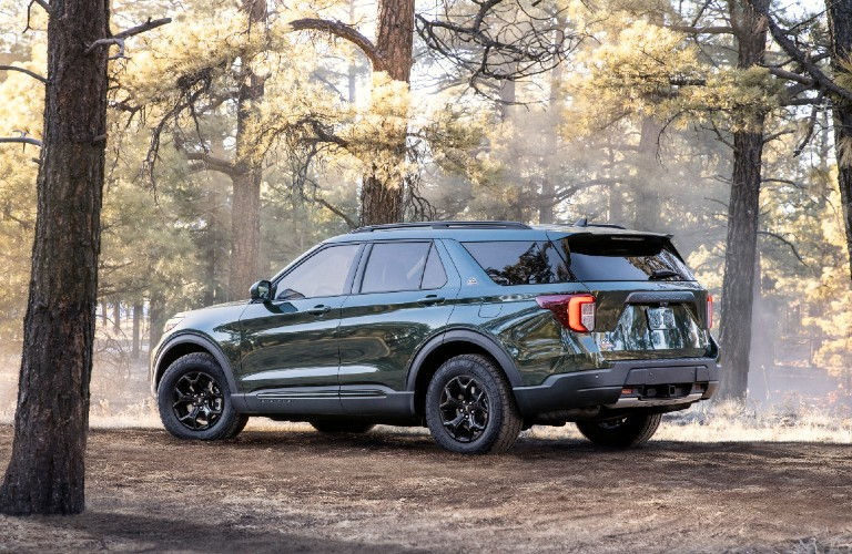 2021 Ford Explorer Timberline in forest