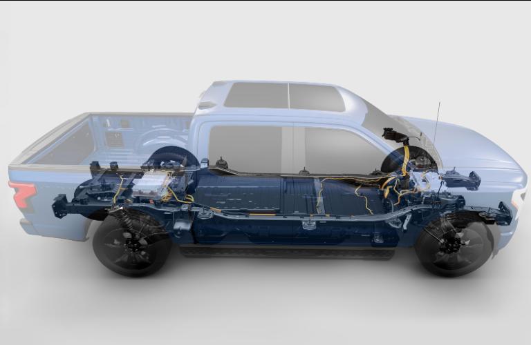 2021 Ford F-150 Lightning powertrain graphic
