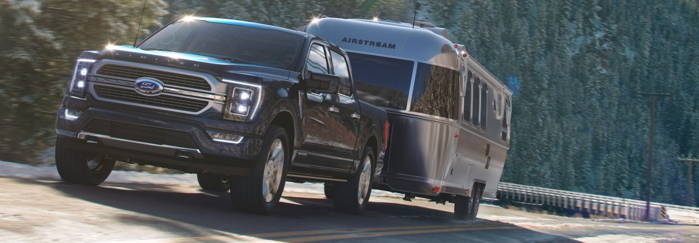 2021 Ford F-150 hauling a camper