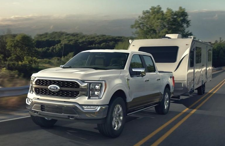 2021 Ford F-150 with trailer coverage.