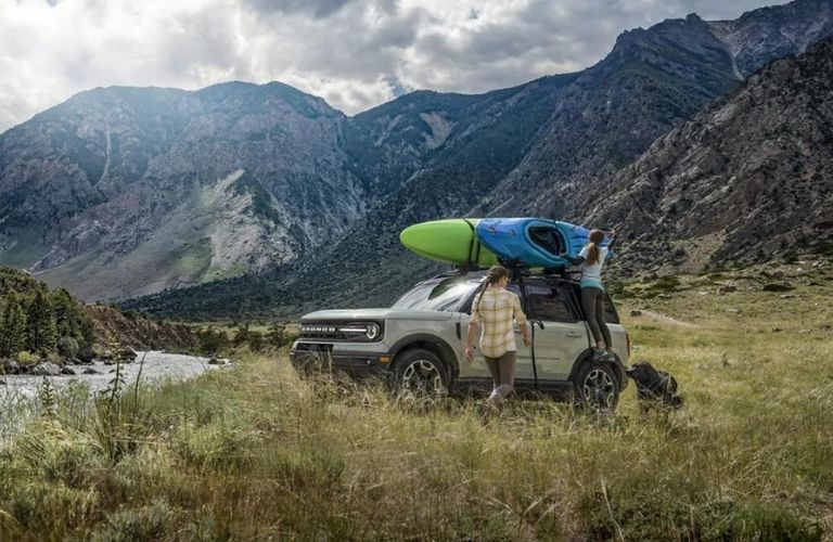 2021 Ford Bronco Sport Off-Roading on a mountain trail
