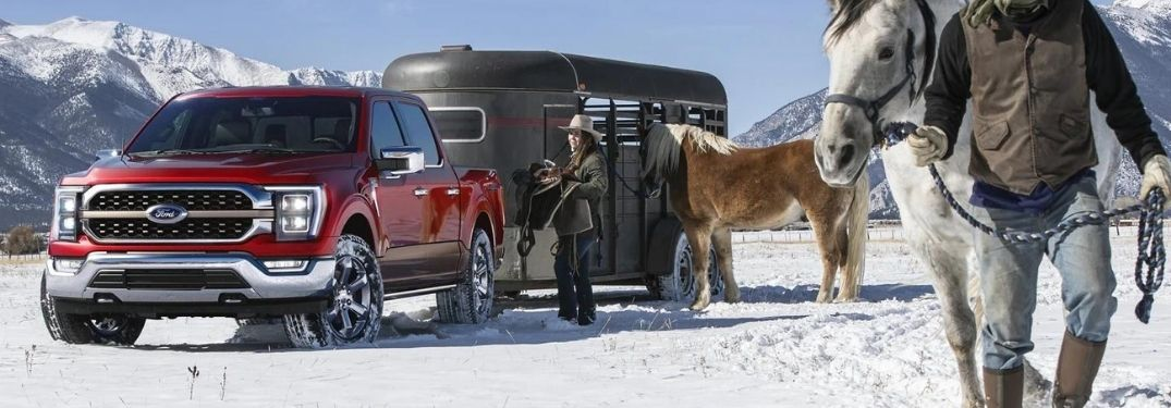 2021 Ford F-150 in red on color