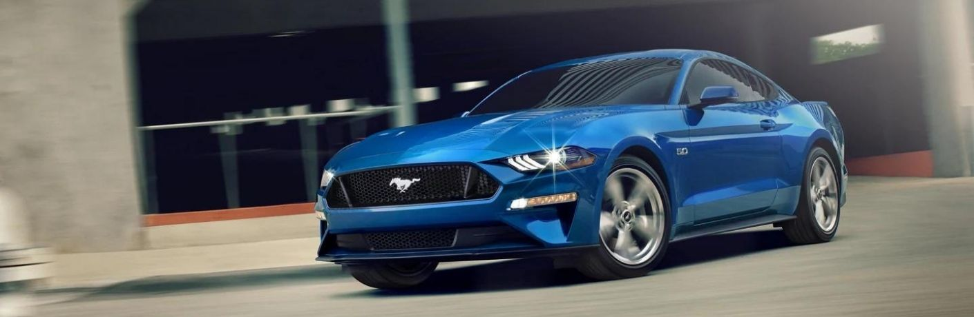 2021 Ford Mustang in royal blue