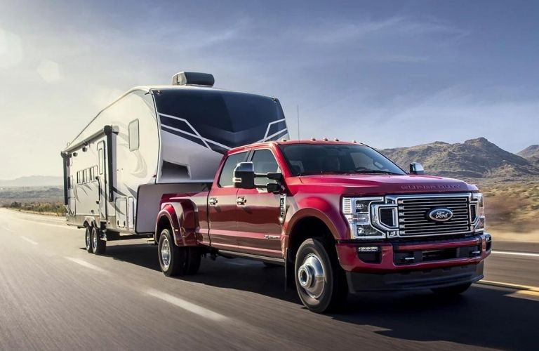 2021 Ford Super Duty F-350 on the road