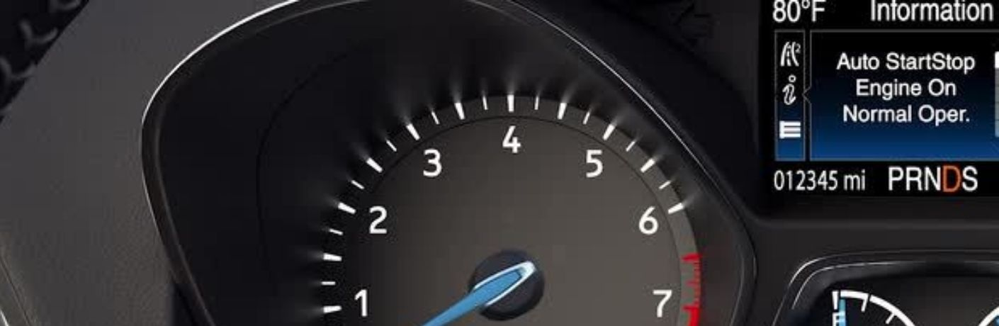 Ford Auto Start-Stop Display on the instrument cluster