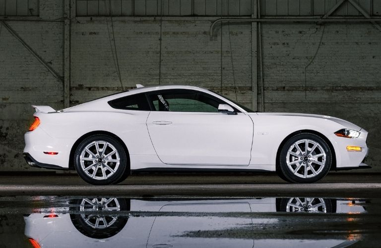 2022 Ford Mustang Coupe Ice White Edition side profile