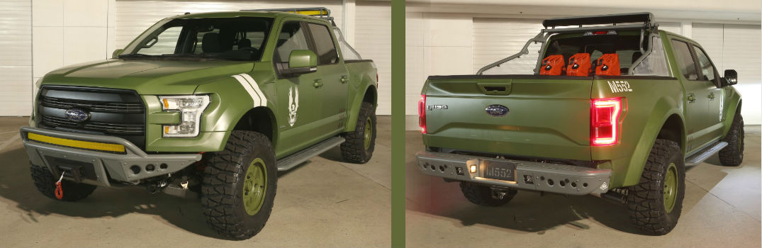 Custom F-150 Designed to Promote the Release of Halo 5