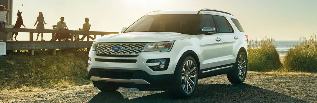 Features on the 2016 Ford Explorer Platinum