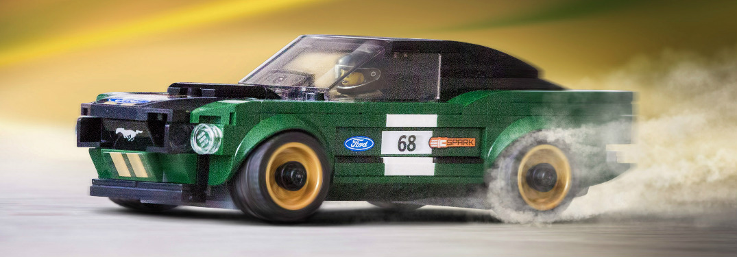 LEGO 1968 Ford Mustang fastback race car driver side