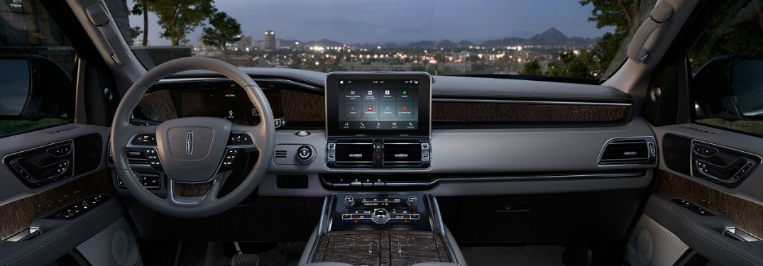 2018 Lincoln Navigator interior front command center