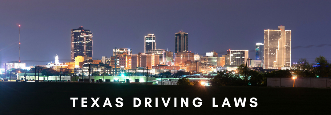 city skyline - texas driving laws