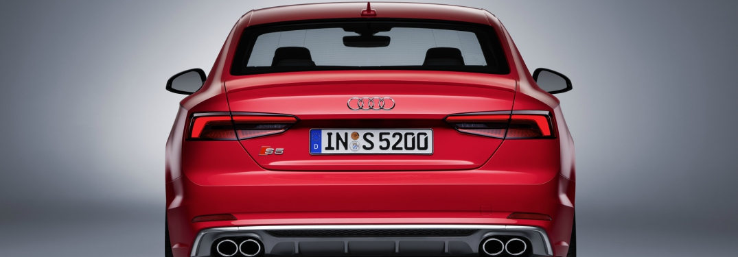 2018 Audi S5 coupe red back view with badging