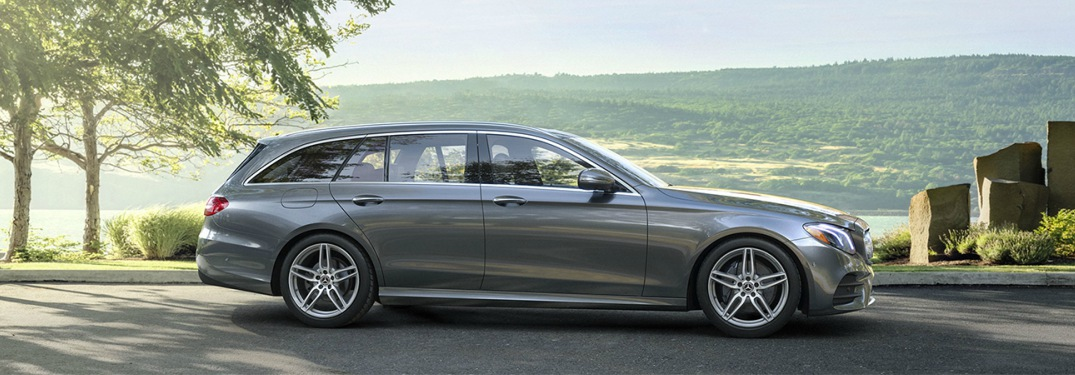 2018 Mercedes-Benz E 400 4MATIC Wagon gray side view