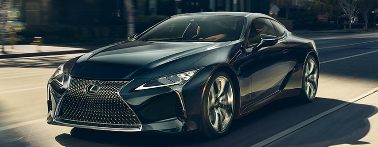 2018 Lexus LC black front view in motion