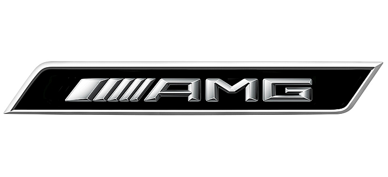 AMG chrome logo