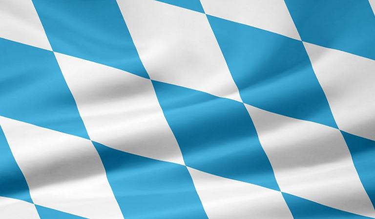 Bavarian blue and white flag