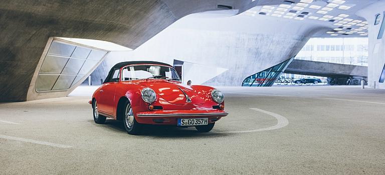 1948 Porsche 356 Carrera GT red front view