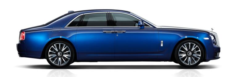 Rolls-Royce Ghost blue side view