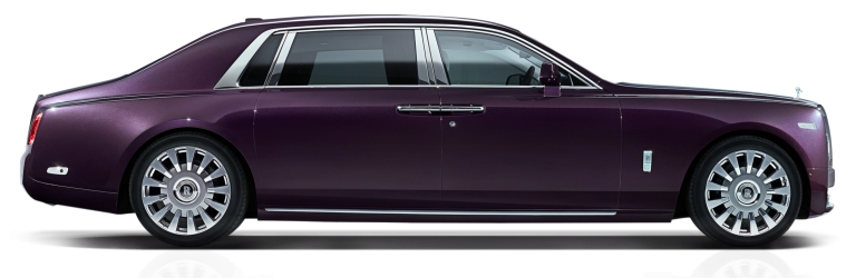 Rolls-Royce Phantom purple side view